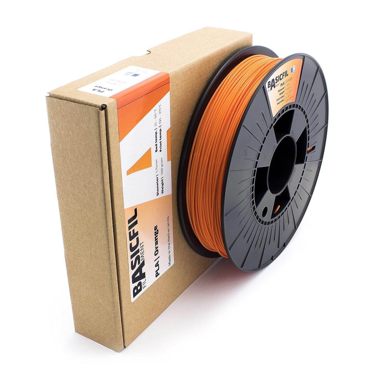 500 gr filamento per stampante 3D Arancione Basicfil PLA 1.75mm