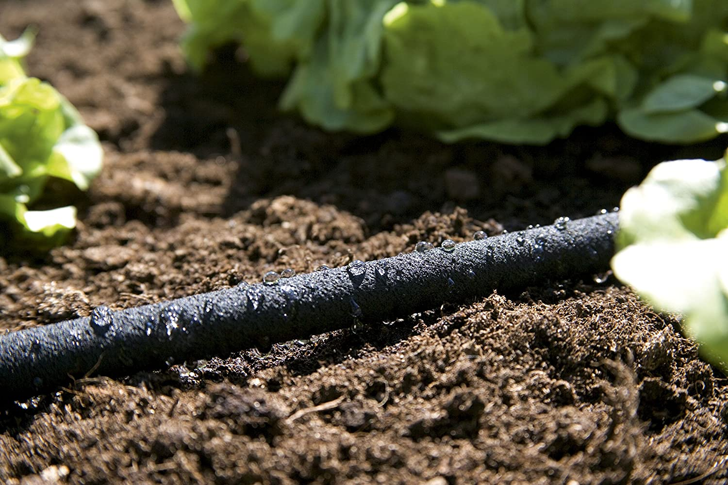 easy to use 1969-20 GARDENA Soaker Hose: Water-saving sprinkler hose for watering plant rows and beds; water savings individually adjustable up to 70/% hose length: 15 m