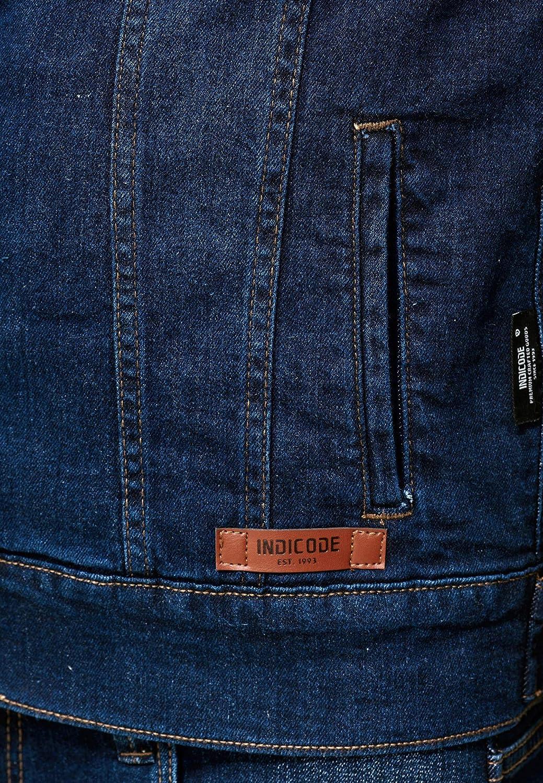 Look Moderno Entretiempo C/ómodo Vaqueros Denim Hoodie Jacket para Hombres Indicode Caballeros Boscobel Chaqueta Vaquera Mangas Y Capucha De Sudadera Chaleco Vaquero