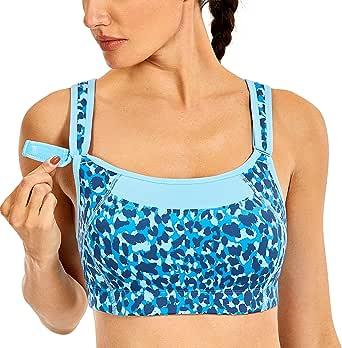 SYROKAN Women's Bounce Control Wirefree High Impact Maximum Support Sports Bra