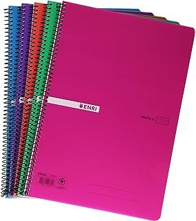 Enri 400042280 - Cuadernos con espiral simple, tapa de ...