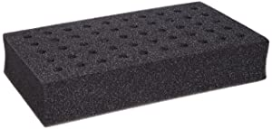 Talboys 945071 Foam Test Tube Rack for 10mm Tube, 50 Tube Capacity, Gray