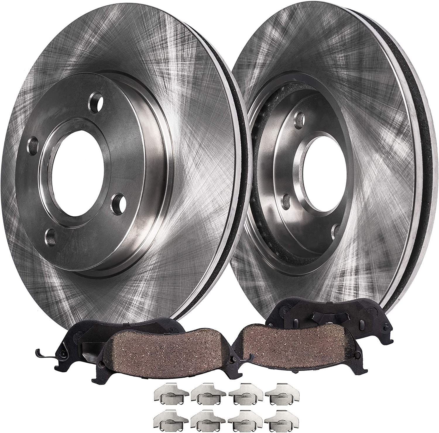 1990 1991 1992 Honda Civic DX//LX Sdn OE Replacement Rotors w//Ceramic Pads F
