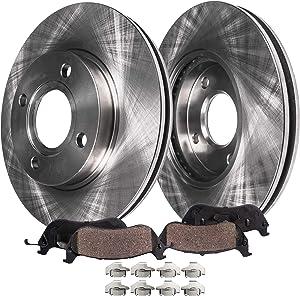 Detroit Axle - Front Disc Brake Kit Rotors & Ceramic Pads w/Clips Hardware Kit Premium GRADE for 2008 2009 2010 2011 Ford Focus