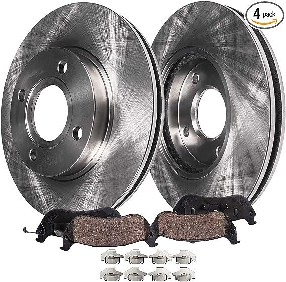 93 94 95 96 97 98 99 00 Civic Front Rotors w//Metallic Pad OE Brakes