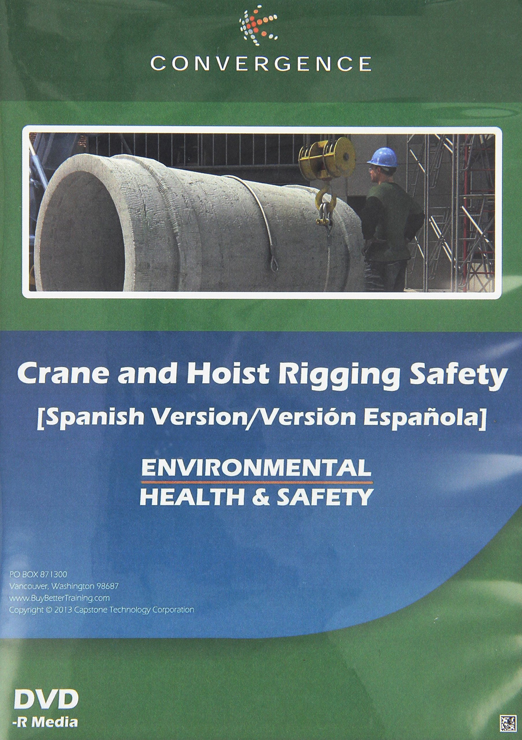 Convergence C-342-ES-US Crane and Hoist Rigging Safety Training Program DVD, 32 minutes Time, Spanish
