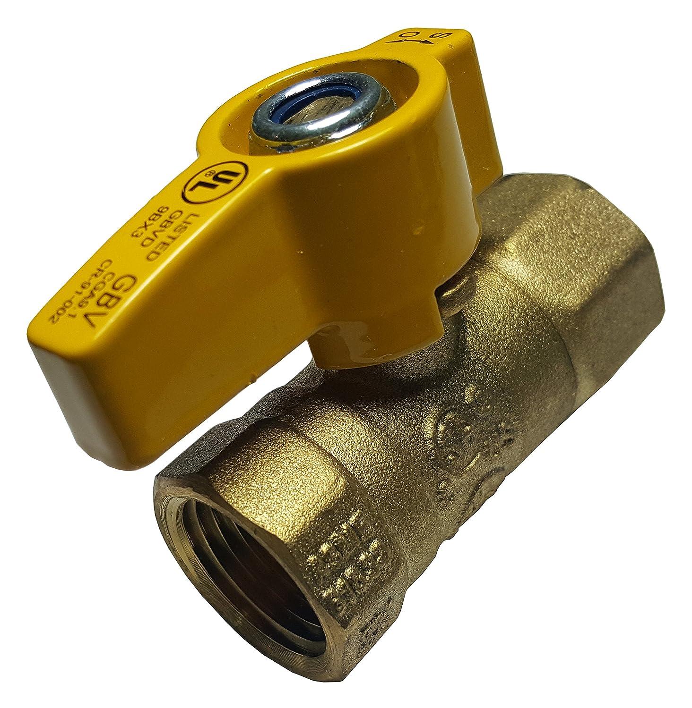 """CSA 10 Shut-Off Valve Natural Gas // Propane 1//2/"""" IPS Brass Gas Ball Valves"""