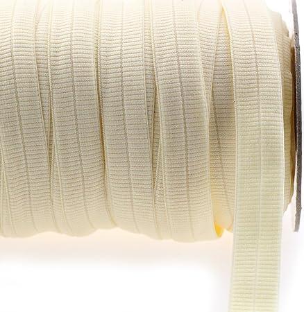 10 mm Large-Beige-par mètre Tissé Ruban élastique
