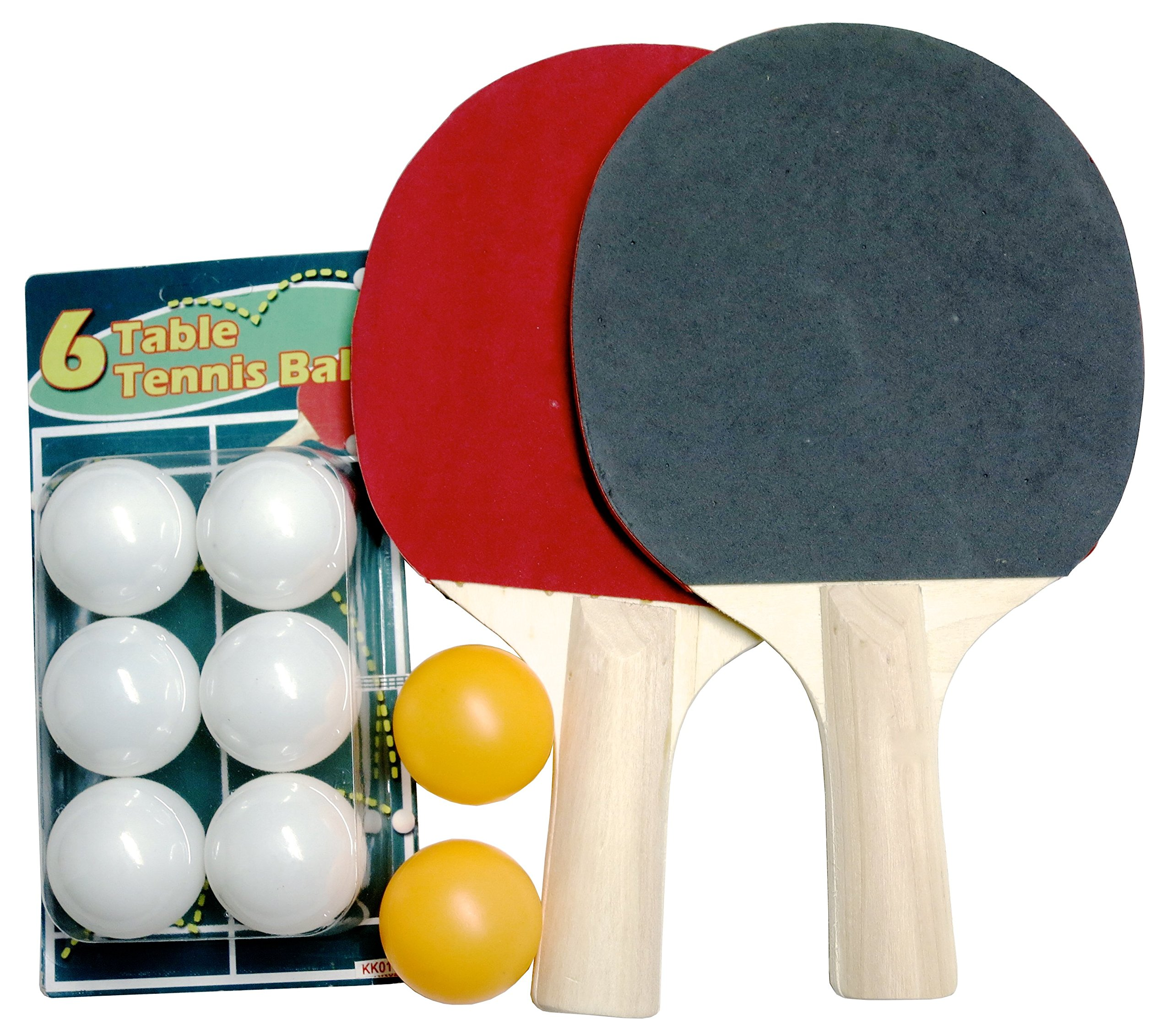 Ping Pong Table Tennis Padded Paddles/Rackets Set of 4 and 4 Orange balls + 16 white Extra Ball's in 2 Zipped Carrying Cases. Perfect For Creating Unforgettable Moment's with Friends And Family.