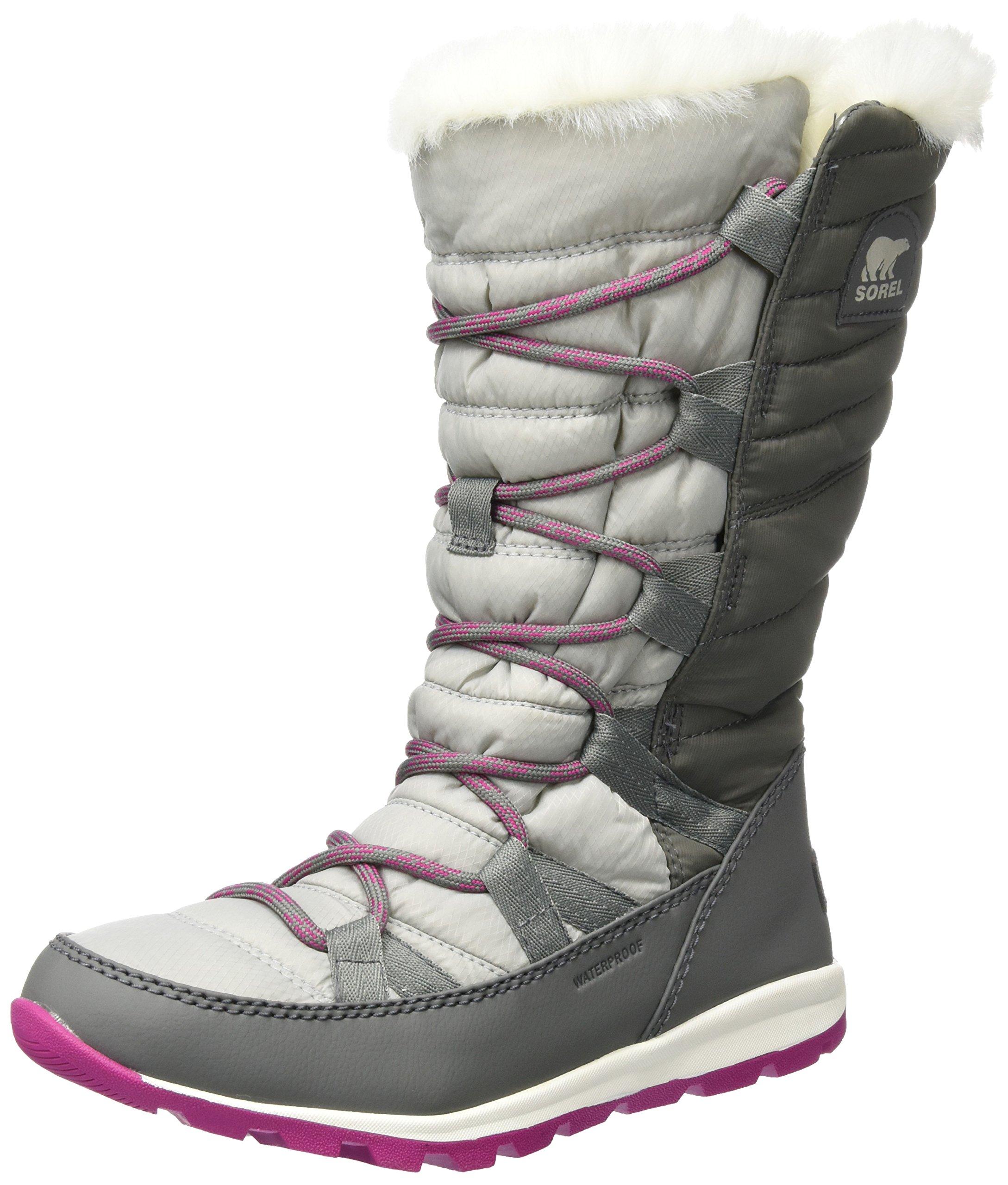 SOREL Womens Whitney Lace Fleece Winter Waterproof Rain Thermal Boots - Quarry - 11