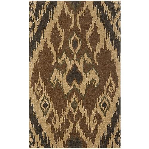 Safavieh Capri Collection CPR351B Handmade Multi and Brown Premium Wool Area Rug 4 x 6