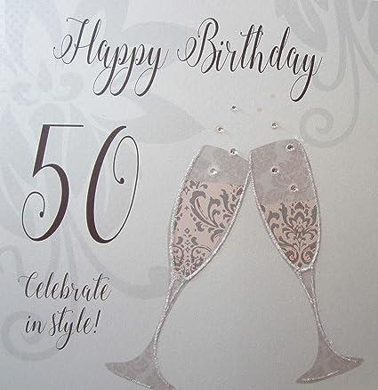 White Cotton cards XDTX70-50 - Tarjeta de felicitación de 50 ...