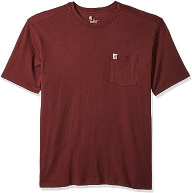 52b4e8dec0 Carhartt Men's Big and Tall Big & Tall Maddock Pocket Short-Sleeve T-Shirt