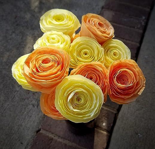Amazon handmade light yellow and orange dyed coffee filter handmade light yellow and orange dyed coffee filter flower bouquet home decor floral arrangement mightylinksfo