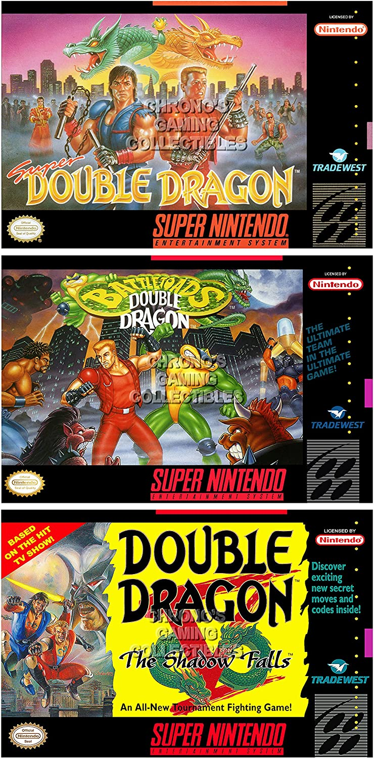 Cgc Huge Poster Glossy Finish Double Dragon Super Battletoads V Box Art Set Super Nintendo Snes Ddnset2 16 X 24 41cm X 61cm Amazon Co Uk Kitchen Home