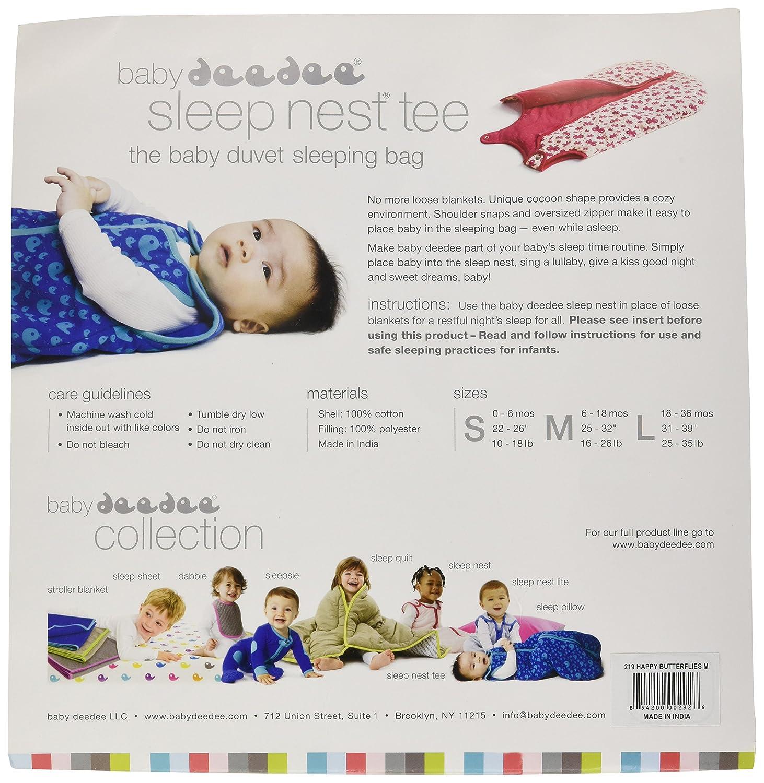 baby deedee Sleep Nest Baby Sleeping Bag, Happy Butterflies, Large (18-36-Month) 419
