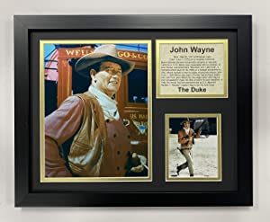 """John Wayne 11"""" x 14"""" Framed Photo Collage by Legends Never Die, Inc. - Stagecoach"""