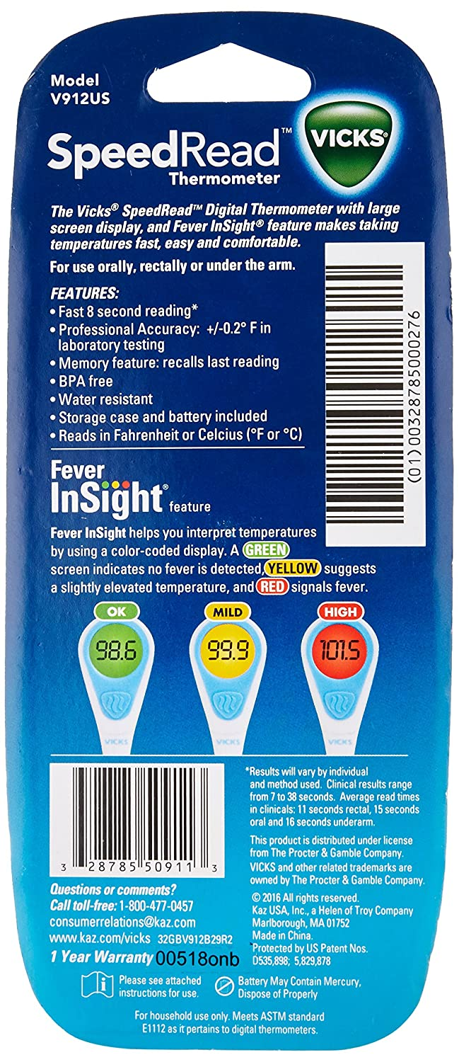 Health & Beauty Vicks Thermometer V912f-24 Speed Read Cheap Sales Baby Thermometers