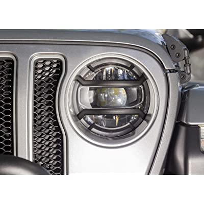 Rugged Ridge Elite Euro Guard Kit, Headlight, Black; 18-19 Jeep Wrangler/Gladiator: Automotive