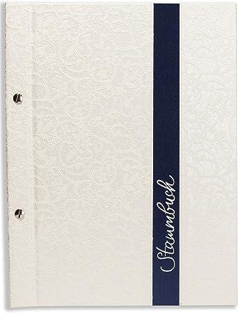 A4 libro de la familia - Eli -, brillo material, adornos, de colour blanco, rayas de adorno, libro de familia, Tribu de los libros, DIN A4: Amazon.es: Bricolaje y herramientas