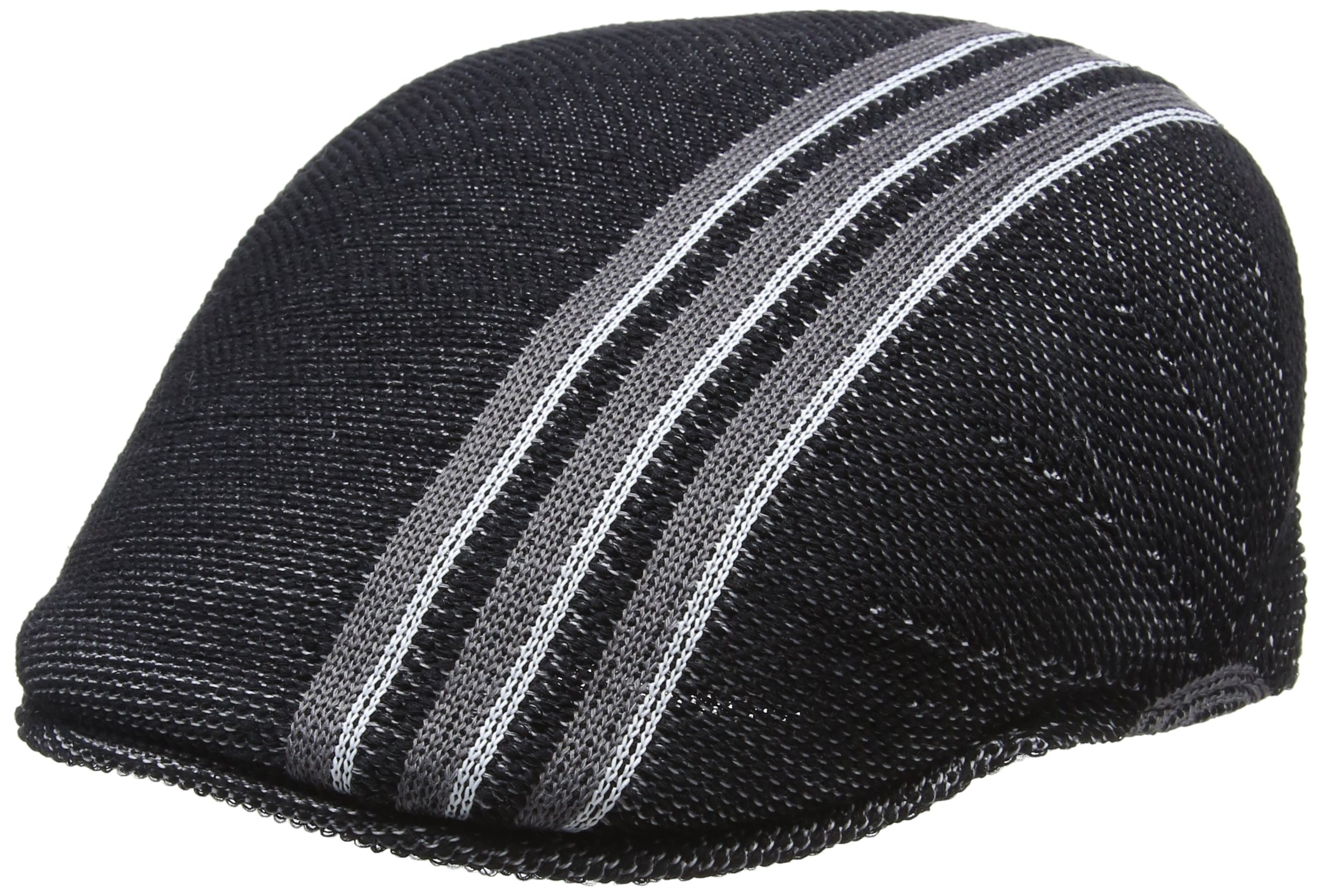 Kangol Men's Travel Stripe 507 Ivy Cap, Black, XL