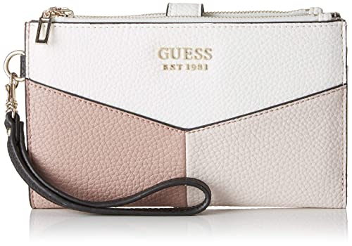 Guess - Colette Slg Dbl Zip Organizer, Mujer, Negro (Stone ...