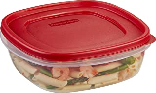 product image for Rubbermaid Easy Find Lids Food Storage Container, 9 Cup, Racer Red