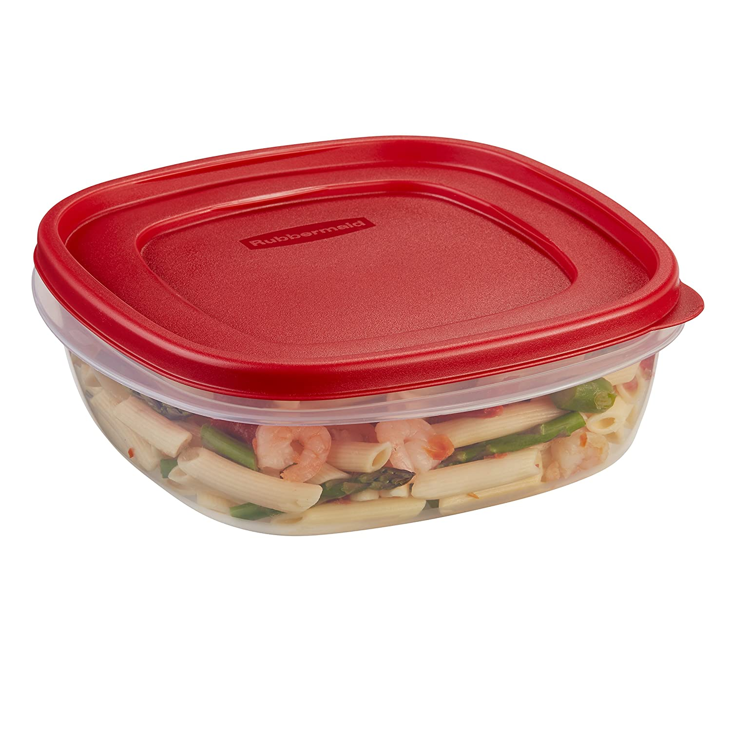 Rubbermaid Easy Find Lids Food Storage Container, 14 Cup, 4-Pack, Red 2053299