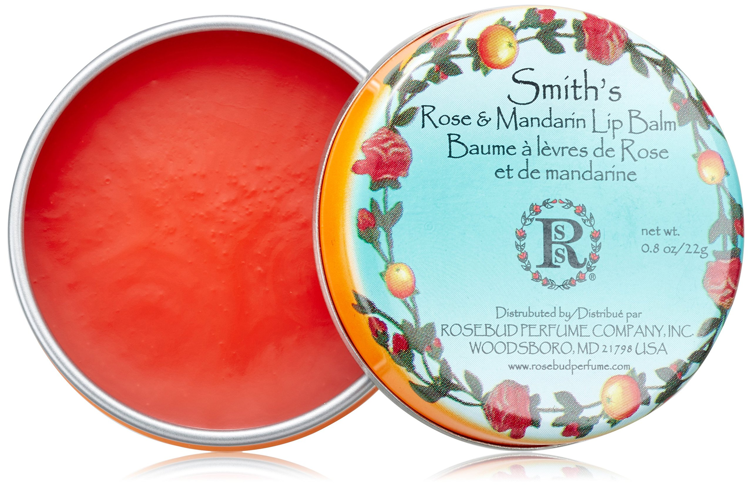 Rosebud Smith's Lip Balm, Rose and Mandarin, 0.8 Ounce