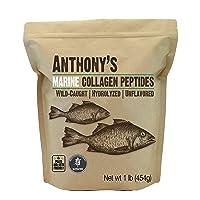 Anthony's Hydrolyzed Marine Collagen Peptides, 1 lb, Gluten Free, Paleo & Keto Friendly, Unflavored, Non GMO