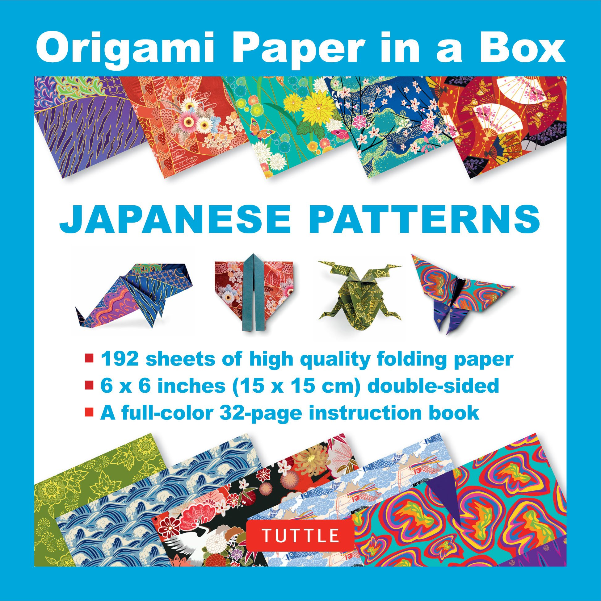 63bc5a2df10fb Amazon.com: Origami Paper in a Box - Japanese Patterns: 192 Sheets ...