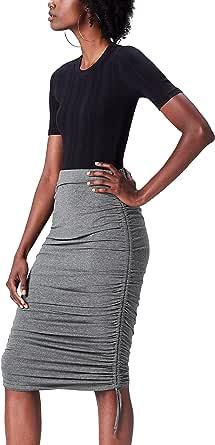 تنورة مكشكشة للنساء من فايند بلون رمادي مقاس 18 (مقاس الشركة المصنعة XX-L)