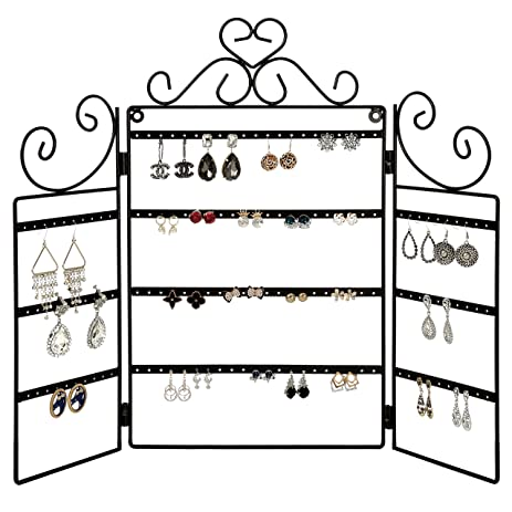 Amazoncom MyGift 72 Pair Earring Organizer Stand Wall Mount