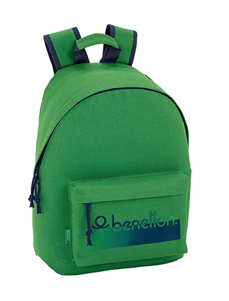 "Benetton UCB Green Oficial Mochila Juvenil Para Portátil 14,1"", 310x160x410mm"