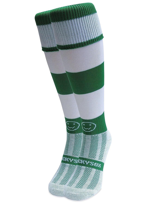 WackySox Classic Hoops Knee Length Rugby Hockey and Football Sports Socks