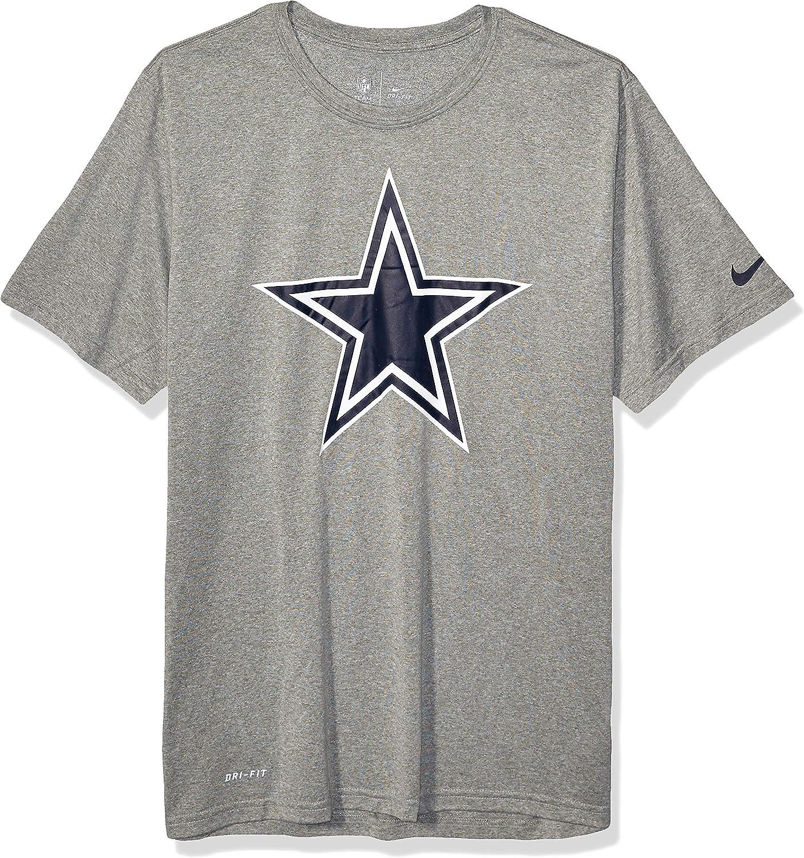 X-Large Dark Heather Gray NFL Dallas Cowboys Mens Nike Legend Essential Logo 3 Tee