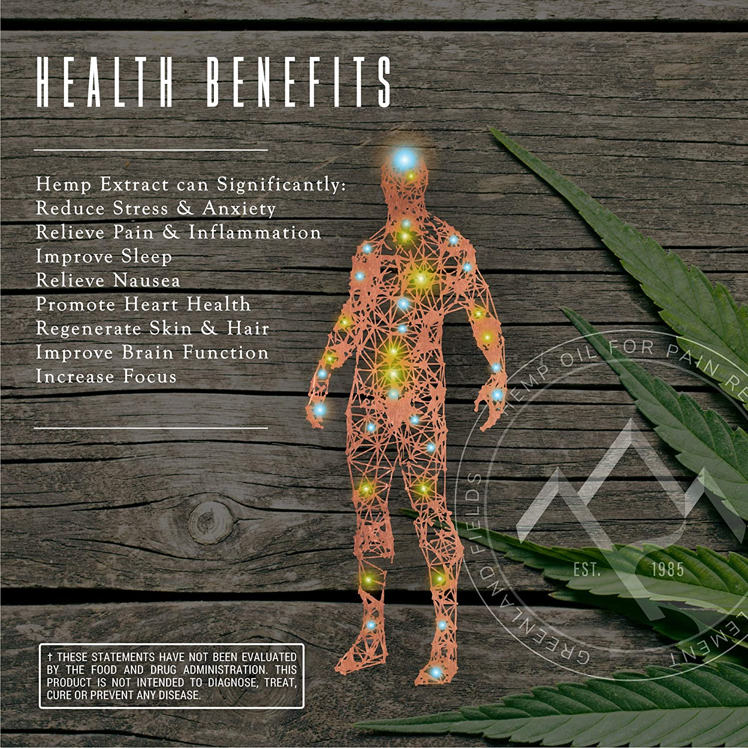 Organic Hemp Oil Extract - 1000MG - Cinnamint Flavor, 100% Natural Pain,  Anxiety & Stress Relief - Anti-Inflammatory, Hip & Joint Support, Rich in