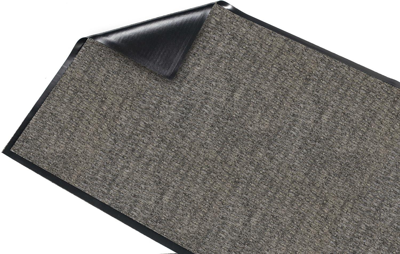 Vinyl//Polypropylene 3x5 Guardian Golden Series Chevron Indoor Wiper Floor Mat Charcoal