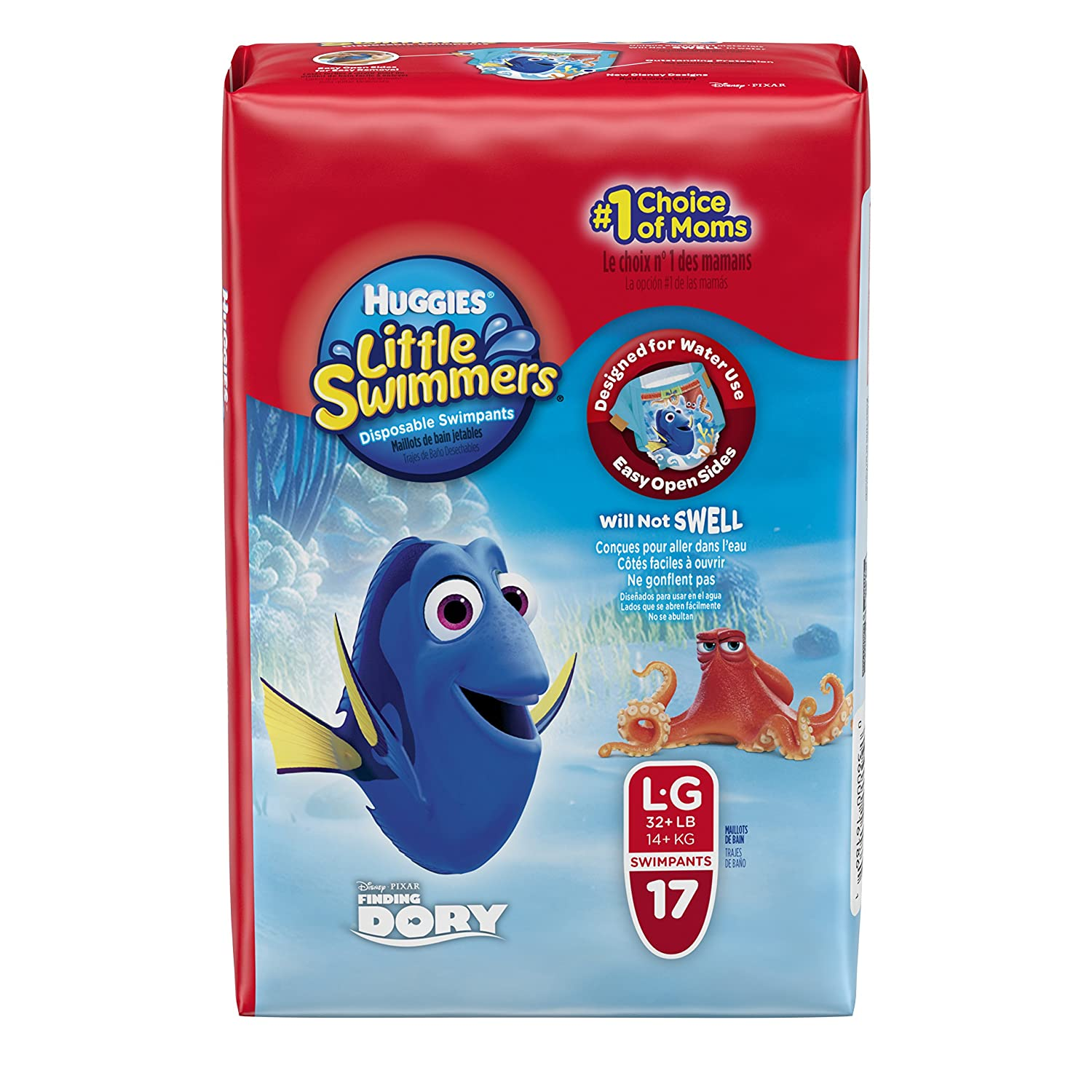 Amazon.com: Huggies Little Swimmers Diapers, Large, 17 Count: Health & Personal Care