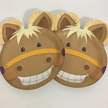 8 platos * süsses Pony * Cumpleaños para niños o fiesta ...