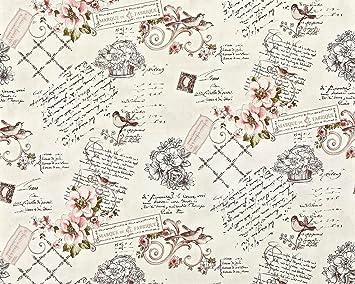 Landhaus Tapete Vliestapete XXL EDEM 904 15 Romantische Mustertapete Blumen  Vögel Rosa Altrosa Grün Braun