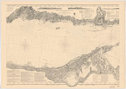 18 x 24 canvas 1855 us old nautical map drawing chart of middle part of long