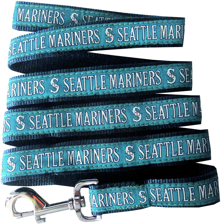 MLB Seattle Mariners Baseball Pet Leash Large Reflective