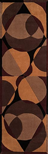 Momeni Rugs New Wave Collection, 100 Wool Hand Carved Tufted Contemporary Area Rug, 2 6 x 12 Runner, Brown
