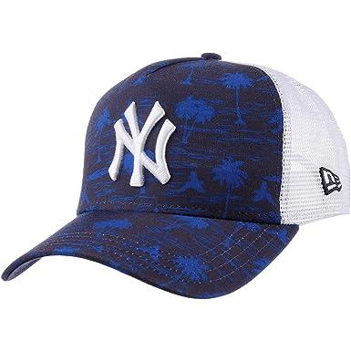 on sale dd747 e819d New Era New York Yankees Trucker Cap - Tonal Palm - Navy Adjustable   Amazon.co.uk  Clothing
