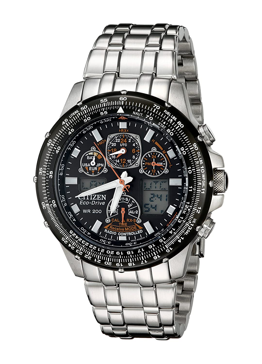 "Citizen Men s JY0000 53E ""Skyhawk A T"" Eco Drive Watch ..."