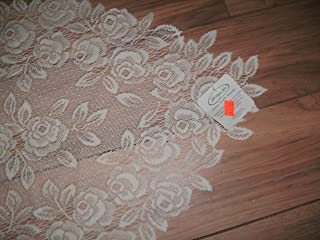 product image for Heritage Lace Tea Rose 14-Inch by 48-Inch Runner, White