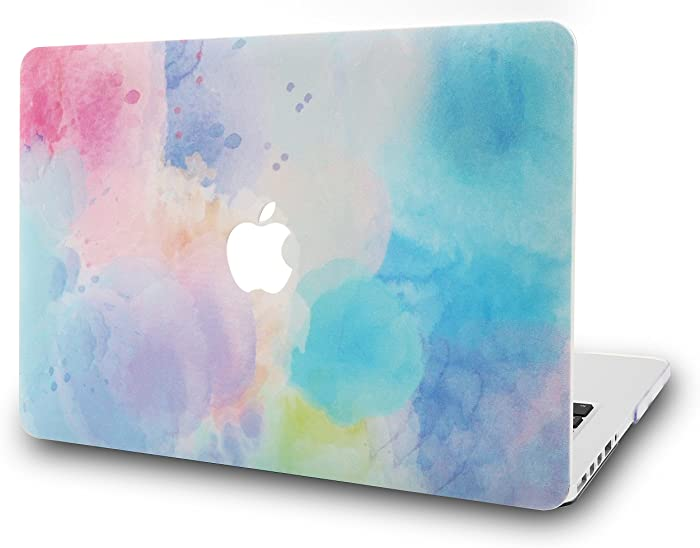 "KECC Laptop Case for Old MacBook Pro 15"" Retina (-2015) Plastic Case Hard Shell Cover A1398 (Rainbow Mist 2)"