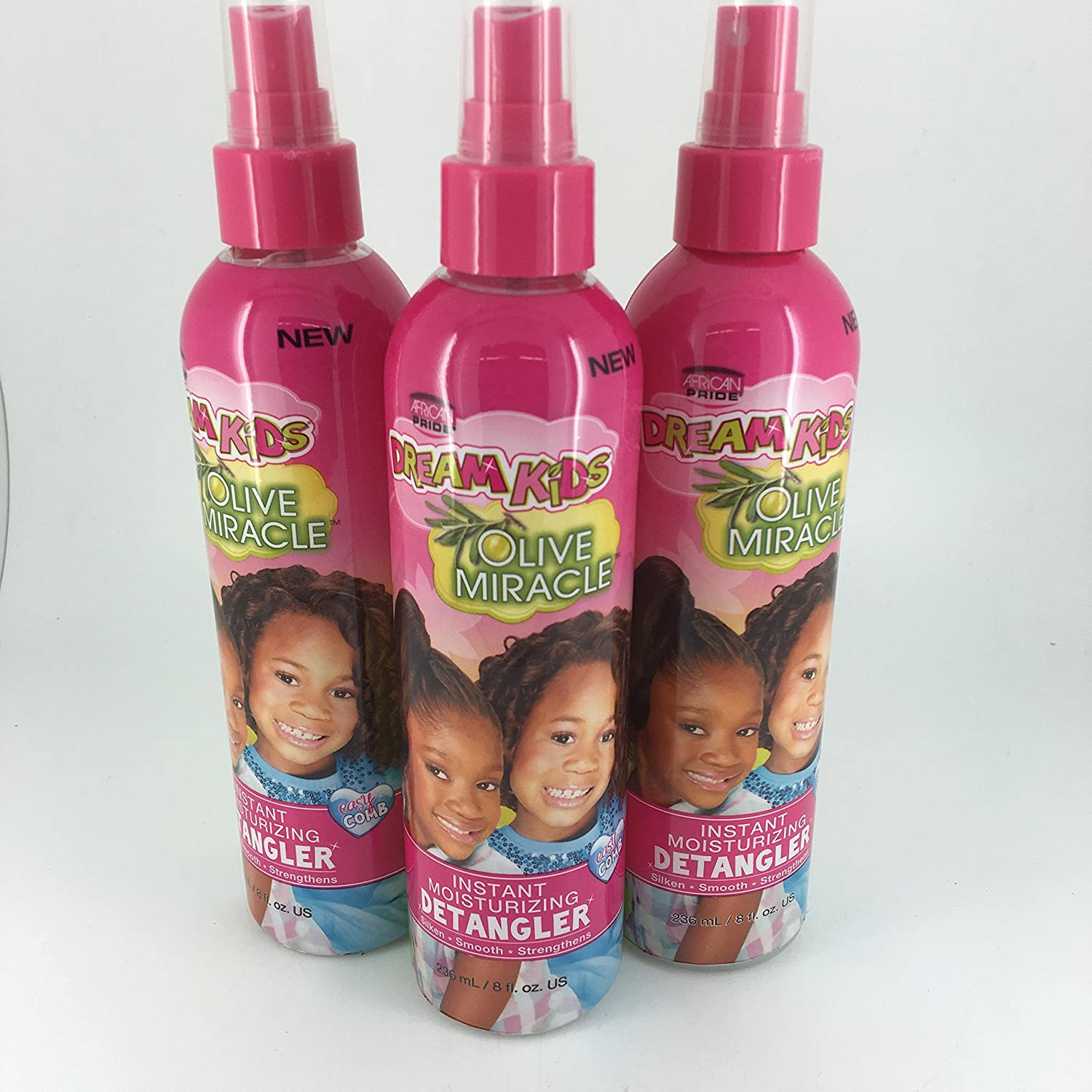 African Pride Dream Kids Olive Miracle Detangler 8 Ounce (235ml) (3 Pack)