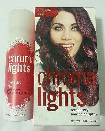 Amazon.com : CHROMA LIGHTS Temporary Hair Color Spray INSTANT POP ...